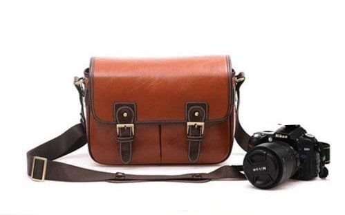 Large Waterproof Leather DSLR Camera Bag