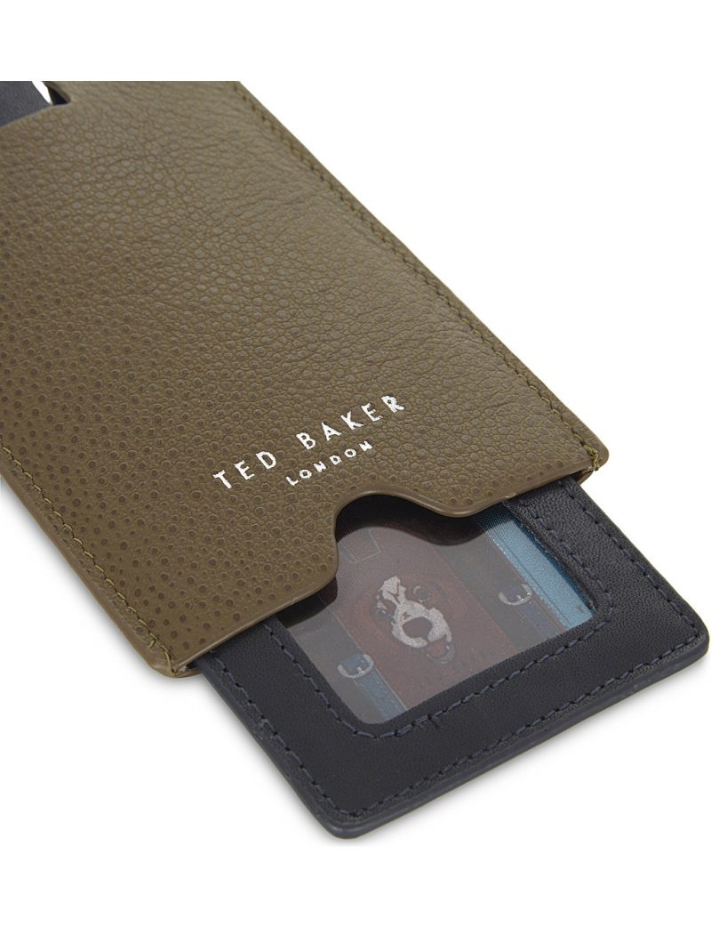 Ted Baker Travla Pebbled Leather Travel Wallet and Luggage Tag Set