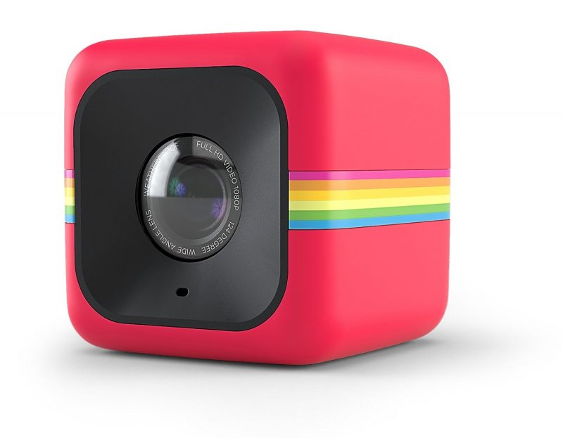 Polaroid Cube+ 1440p Mini Lifestyle Action Camera with Wi-Fi & Image Stabilization(Red)